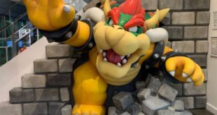 Nintendo New York unveiled BOWSER STATUE in store