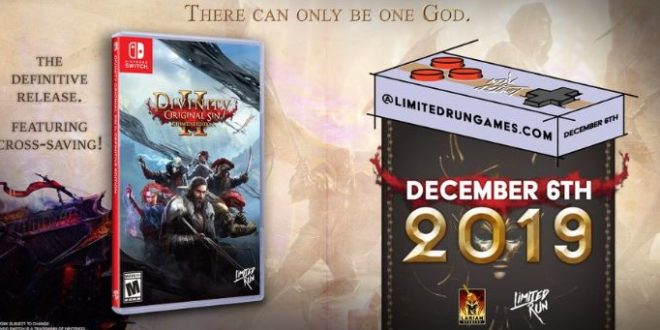 Divinity: Original Sin 2 - Definitive Edition is coming to the Nintendo switch(with Steam cross-saving)!
