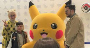 Katy Perry appears with her husband and son at Pokemon Cafe in Japan