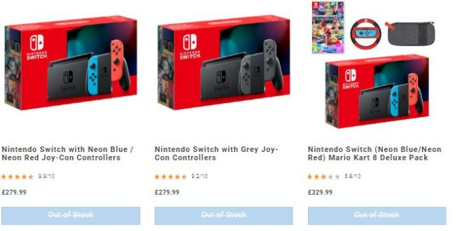 The original Nintendo Switch is currently out of stock at most UK retailers