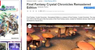 Final Fantasy Crystal Chronicles Remastered Edition is releasing on Nintendo switch on August 28