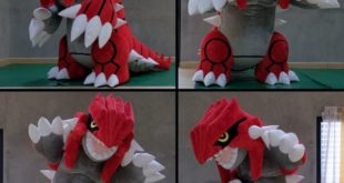 A fan-made human-sized Groudon costume will blow your mind