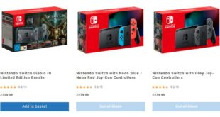 Only Nintendo Switch Diablo III Limited Edition Bundle is available at Uk retailer