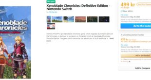 A Danish retailer shows release date for Xenoblade Chronicles: Definitive Edition for Nintendo Switch