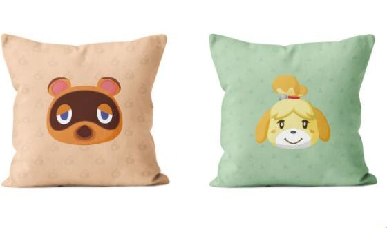 Cushions inspired by Animal Crossing: New horizons
