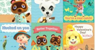 Valentine's Day cards inspired by the Animal Crossing series of games
