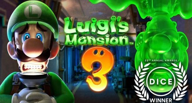 Luigi's mansion 3 wins 2020 DICE awards for Outstanding Achievement in Animation