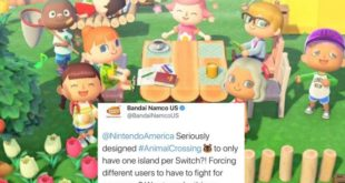 Bandai Namco official tweets Animal Crossing: New Horizons complaint