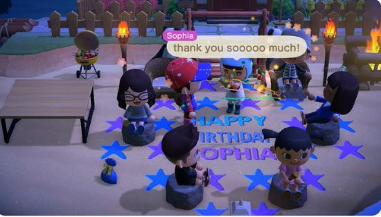 A producer at Playstation celebrated a birthday party in Animal Crossing: New Horizons