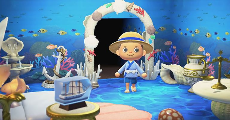 Check out Fish themed room in Animal Crossing: New Horizons