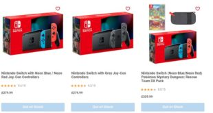 Nintendo Switch is out of stock at Nintendo's official UK Store
