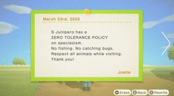 PETA creates a Vegan Guide to Animal Crossing: New Horizons