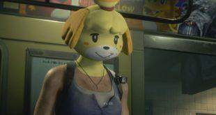 Resident Evil 3 Remake's jill valentine wears Isabelle mask