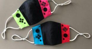 A Japanese Fan Makes Nintendo Switch Face Mask
