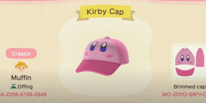 Top 11 Kirby customs design codes in Animal Crossing: New Horizons