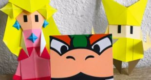 An incredible Origami Princess Peach inspired by Paper Mario: The Origami King