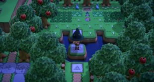 A player recreates Zelda Mini-Game themed island in Animal Crossing: New Horizons