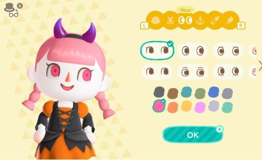 Contact lenses and skin color for Halloween in Animal Crossing: New Horizons, how to get them?