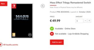 Mass Effect Trilogy Remastered appears on the Portuguese retailer website