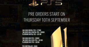 24K gold PS5 preorder starts Thursday at £8099, £7999 for discless