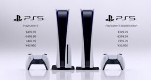 PlayStation 5 will go on sale for 399 and 499 dollars