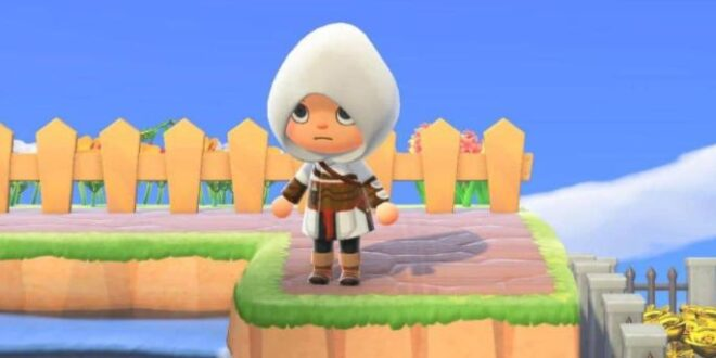 The official Assassin's Creed account shares the code to download this outfit in Animal Crossing: New Horizons
