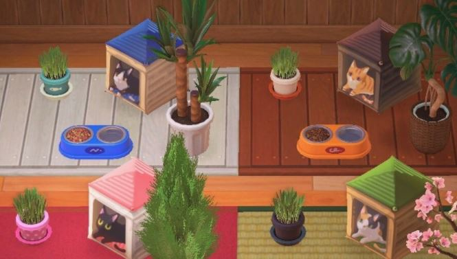 These cat casts are actually made with custom umbrellas - codes to download in Animal Crossing: New Horizons