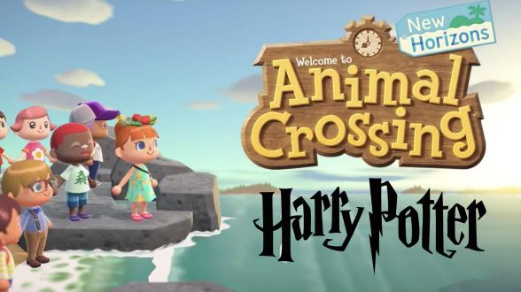 The Hogwarts Express, on Platform 9 and ¾, from Harry Potter, is recreated in Animal Crossing New Horizons