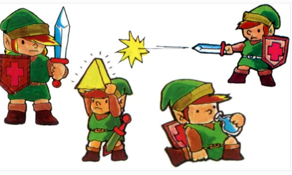 This is Link in the Japanese manual for The Legend of Zelda for the Famicom