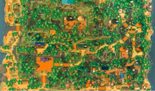 Fan creates a map of his Animal Crossing: New Horizons island with hundreds of screenshots: dream code to visit it